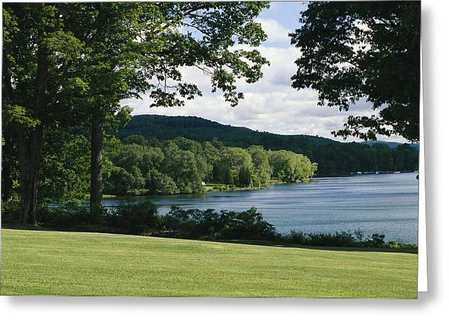 A Scenic View Of Otsego Lake Greeting Card