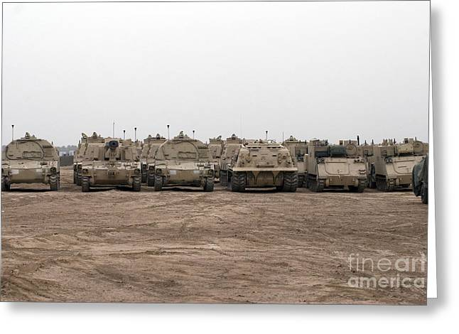 A Selection Of M992 C.a.t Or Carrier Greeting Card by Terry Moore
