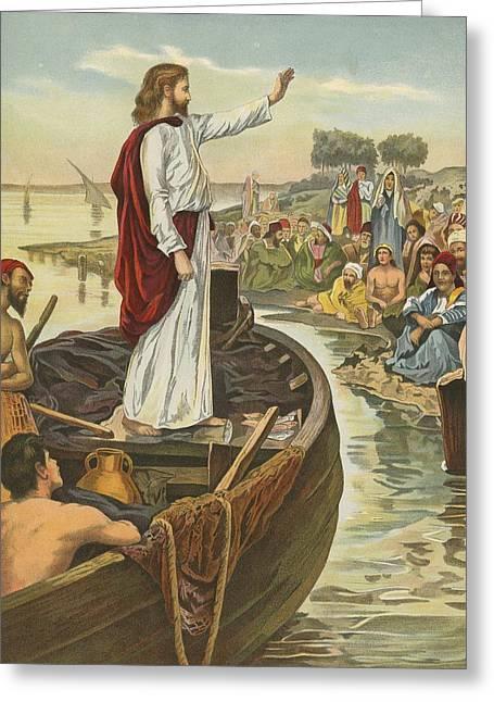 A Sermon  Greeting Card by English School