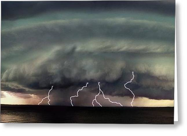 A Severe Storm Greeting Card by Don Hammond