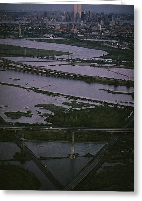 A Shot Of The Meadowlands And The New Greeting Card by Melissa Farlow