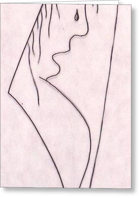 A Shoulder To Cry On Greeting Card by Kip Vidrine