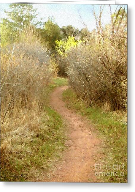 A Single Path Greeting Card by Cristophers Dream Artistry