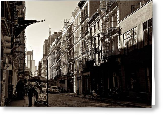 A Slice Of Soho Greeting Card by Eric Tressler