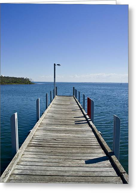 A Small Jetty In A Sheltered Greeting Card by Jason Edwards