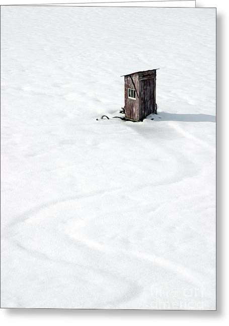 Greeting Card featuring the photograph A Snowy Path by Karen Lee Ensley