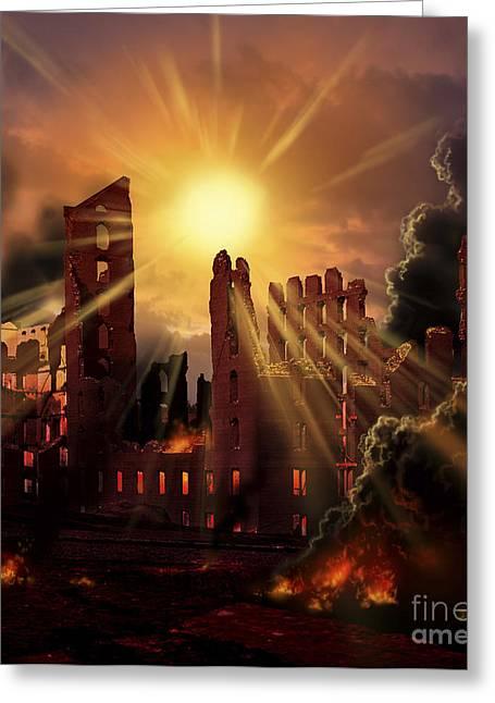 A Solar Flare, An Enormous Eruption Greeting Card