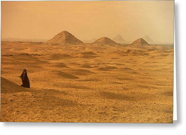 A Solitary Figure In The Desert Greeting Card