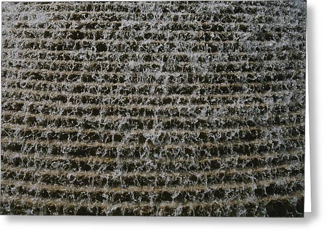 A Soothing Terraced-waterfall Fountain Greeting Card