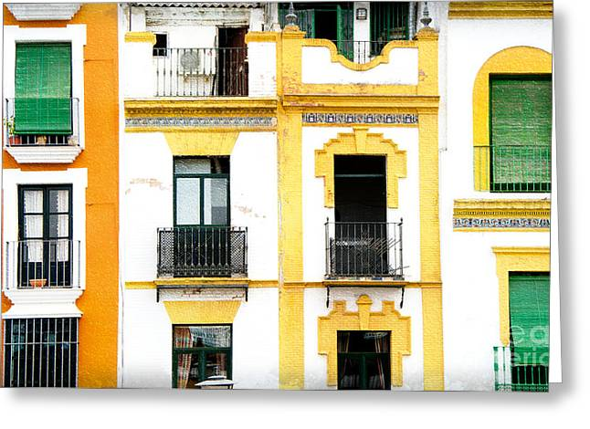 A Spanish Facade Greeting Card by Perry Van Munster
