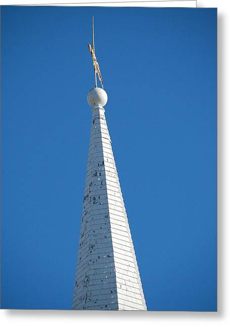 A Spire In New England Greeting Card by Dickon Thompson