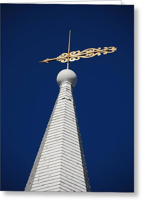 A Spire In New England II Greeting Card by Dickon Thompson