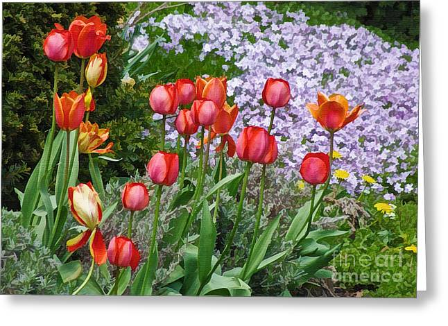 A Spring Feast Of Colours Greeting Card by Gerda Grice