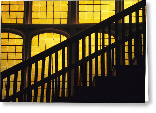 A Staircase In Silhouette Greeting Card by David Evans
