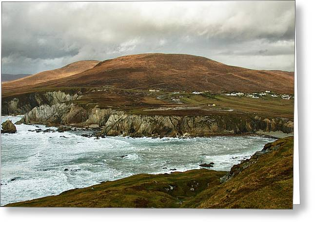 Greeting Card featuring the photograph A Stormy Day On Achill Island by Trever Miller