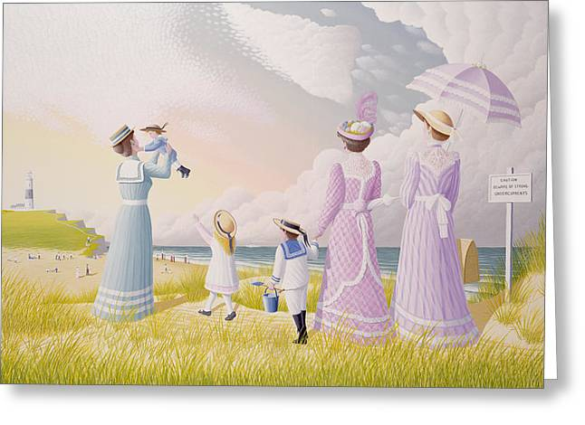 A Stroll On The Dunes Greeting Card by Peter Szumowski