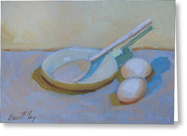 A Study In White Greeting Card by Diane McClary