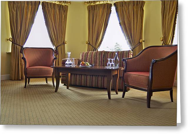 A Suite In A Hotel A Lounge Greeting Card