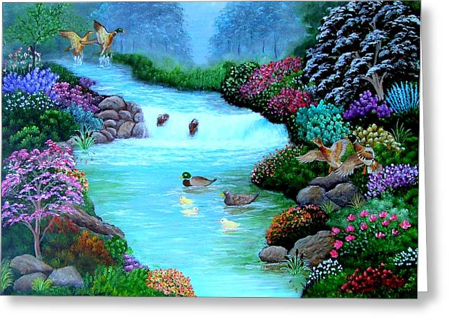 Greeting Card featuring the painting A Taste Of Heaven by Fram Cama