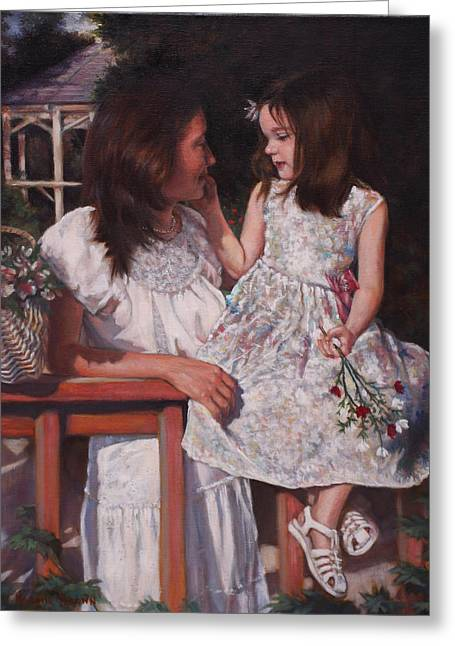 Greeting Card featuring the painting A Tender Touch by Harvie Brown