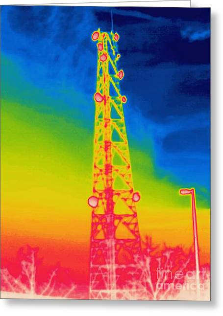 A Thermogram Of An Antenna Greeting Card