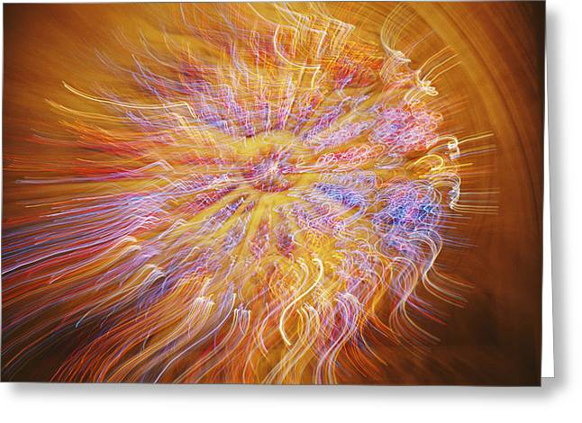 A Time Exposure Combined With A Zoom Greeting Card by Stephen St. John