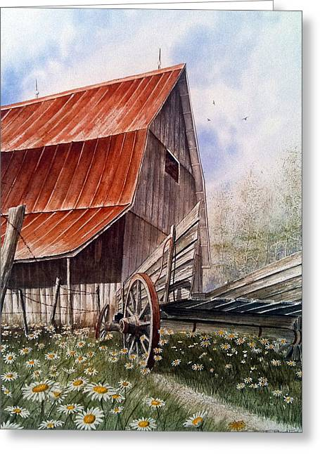 A Time For Daiseys Greeting Card by Don F  Bradford