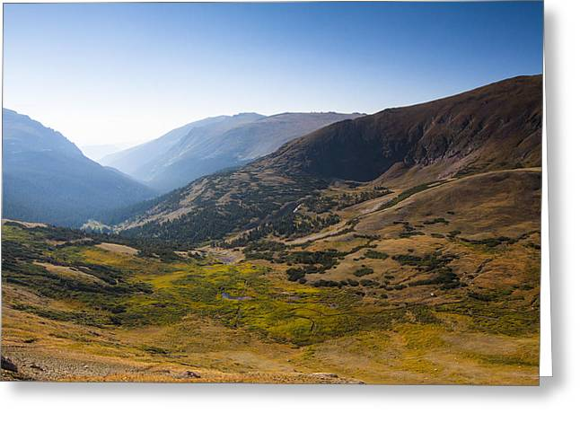 A Tundra Valley In The Colorado Rockies Greeting Card by Ellie Teramoto