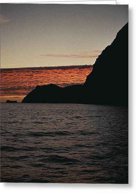 A Twilight View Of Guadalupe Island Greeting Card