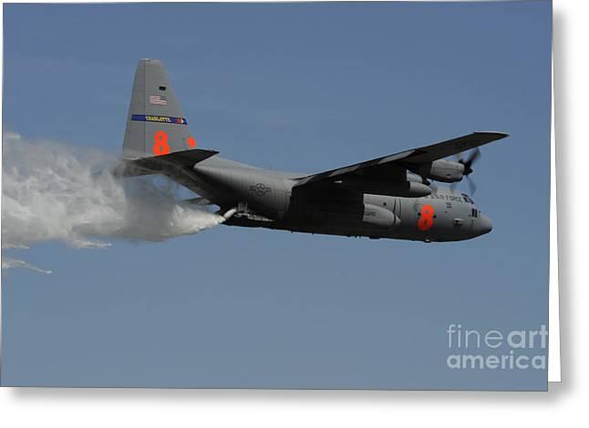 A U.s. Air Force C-130 Hercules Greeting Card by Stocktrek Images
