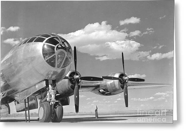 A U.s. Army Air Forces B-29 Greeting Card by Stocktrek Images