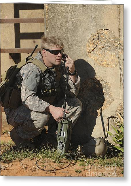 A U.s. Special Operations Soldier Greeting Card by Stocktrek Images