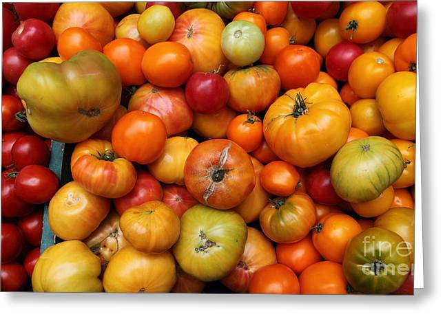 A Variety Of Fresh Tomatoes - 5d17812-long Greeting Card by Wingsdomain Art and Photography