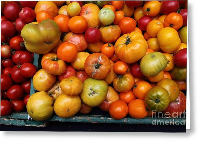 A Variety Of Fresh Tomatoes - 5d17812 Greeting Card by Wingsdomain Art and Photography