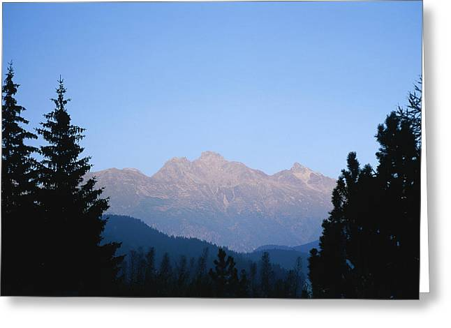 A View At Sunset Of The Piz Muragl Greeting Card by Taylor S. Kennedy