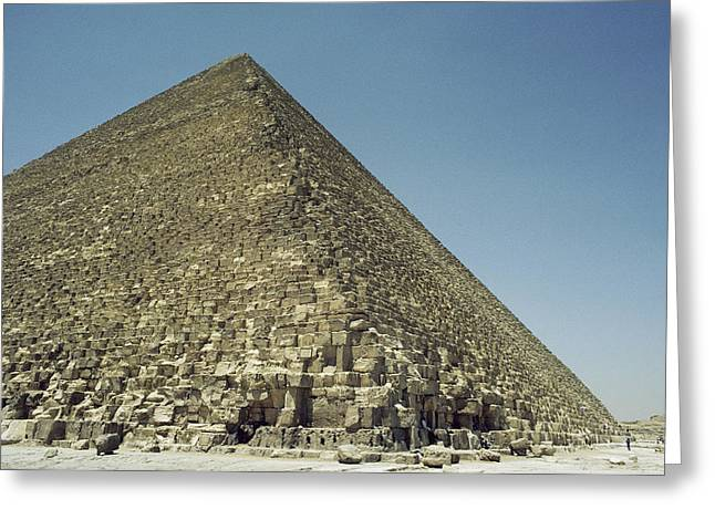 A View From The Base Of One Of Egypts Greeting Card
