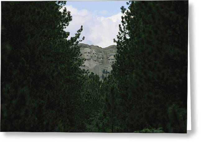 A View Of Mount Rushmore National Greeting Card by Annie Griffiths