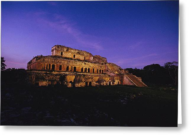 A View Of The Ancient Mayan Ruins Greeting Card