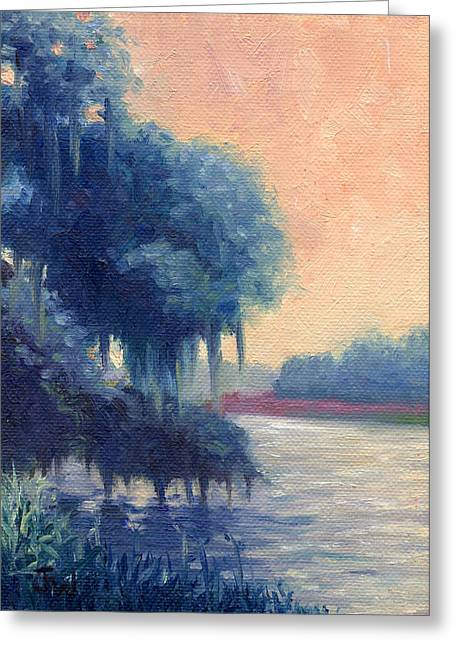 Greeting Card featuring the painting A View Of The Ashley River by Joe Winkler
