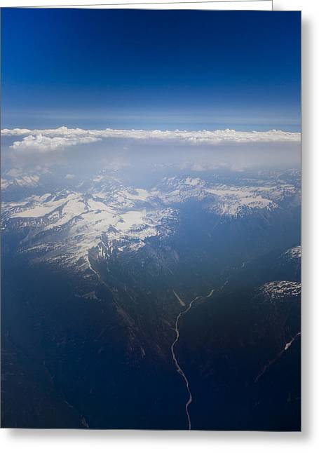 A View Of The Coastal Mountains Greeting Card