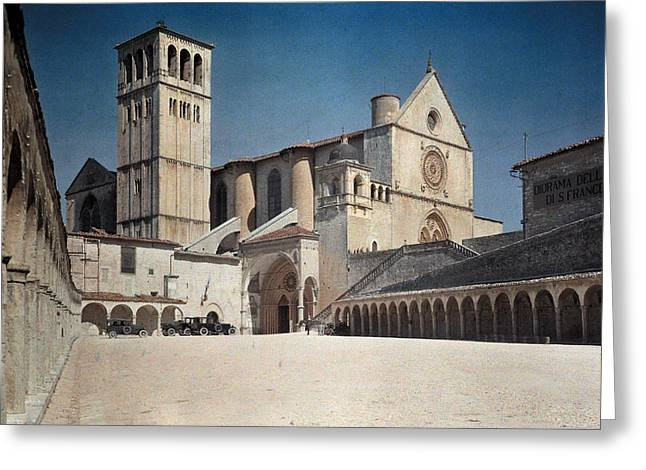 A View Of The Franciscan Monastery, St Greeting Card by Hans Hildenbrand