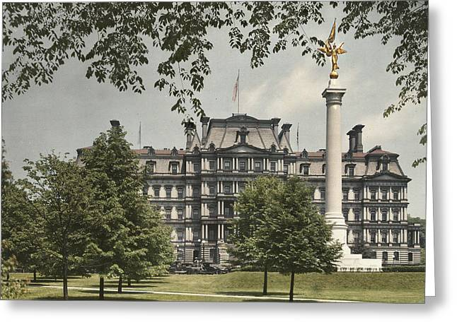 A View Of The Government Building Greeting Card by Charles Martin