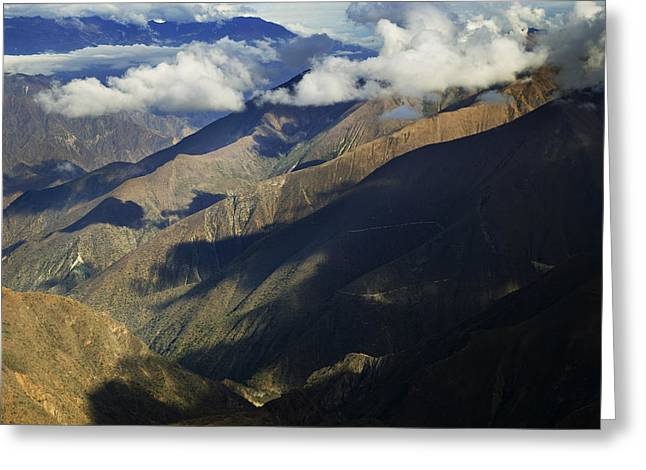 A View Of The Massive Valley Greeting Card by Nigel Hicks