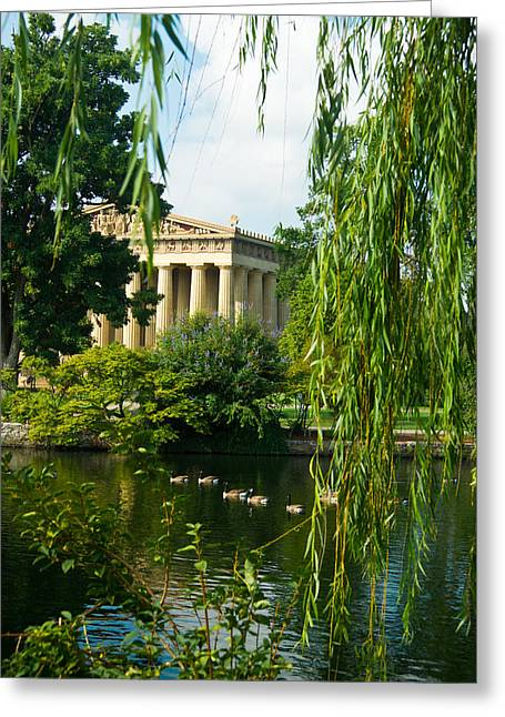 A View Of The Parthenon 15 Greeting Card