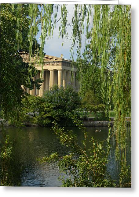 A View Of The Parthenon 3 Greeting Card
