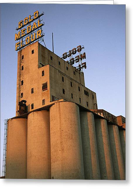 A View Of The Washburn Crosby A Mill Greeting Card by Ira Block