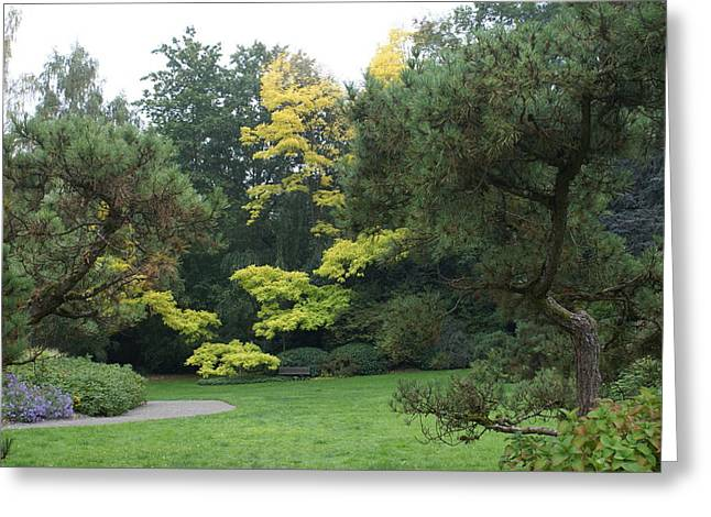 Greeting Card featuring the photograph A Walk In The Park by Jerry Cahill
