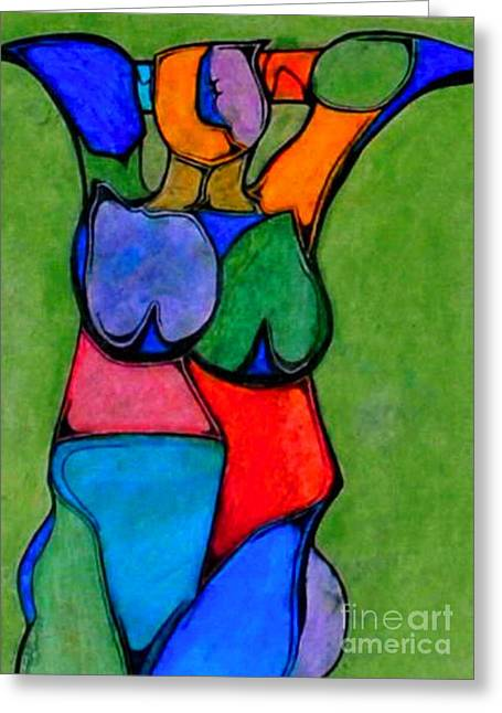 A Womanist Personality Greeting Card by Antione Leonard