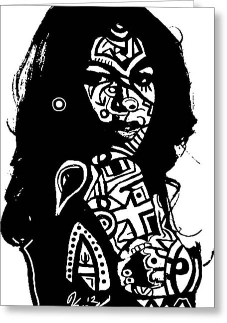 Aaliyah By Kamoni-khem Greeting Card