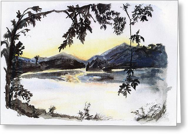 Aare Am Abend Greeting Card by Jana Goode